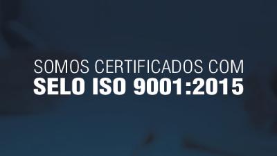 Imagem - Somos certificados ISO 9001:2015 pela ABNT