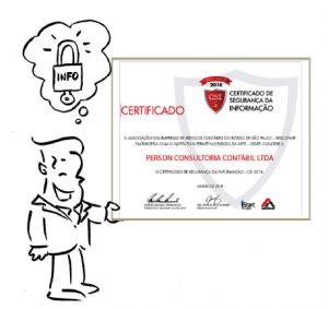Person é reconhecida pelo certificado CSI – Certificado de Segurança da Informação